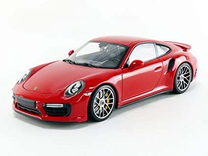 Minichamps 2016 Porsche 911 Turbo S Red Limited Edition to 504 Pieces Worldwide 1/18