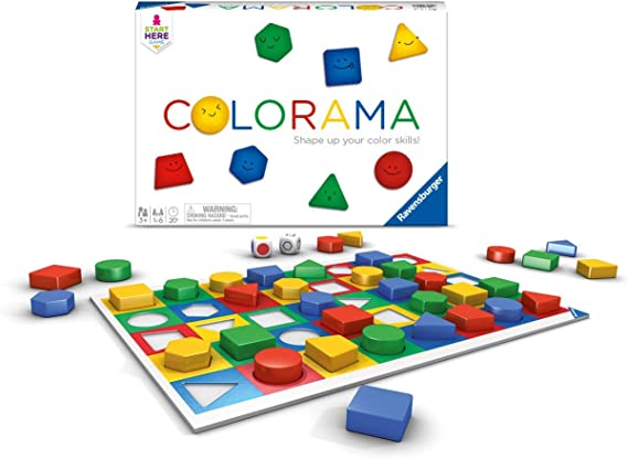 Ravensburger Colorama for Ages 3 & Up - Fast Children's Game of Patterns and Shapes