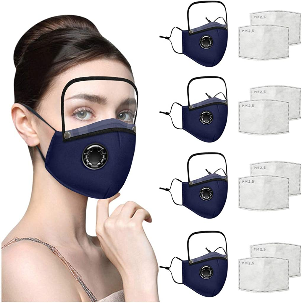 Aayomet Fast Delivery Adults Kids Reusable Washable Face Protective Cover with Filters Eye Shield Cloth Mouth Covering