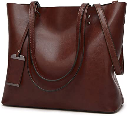 Ladies Women Leather Tote Shoulder Bag Handbag Satchel School Shopper