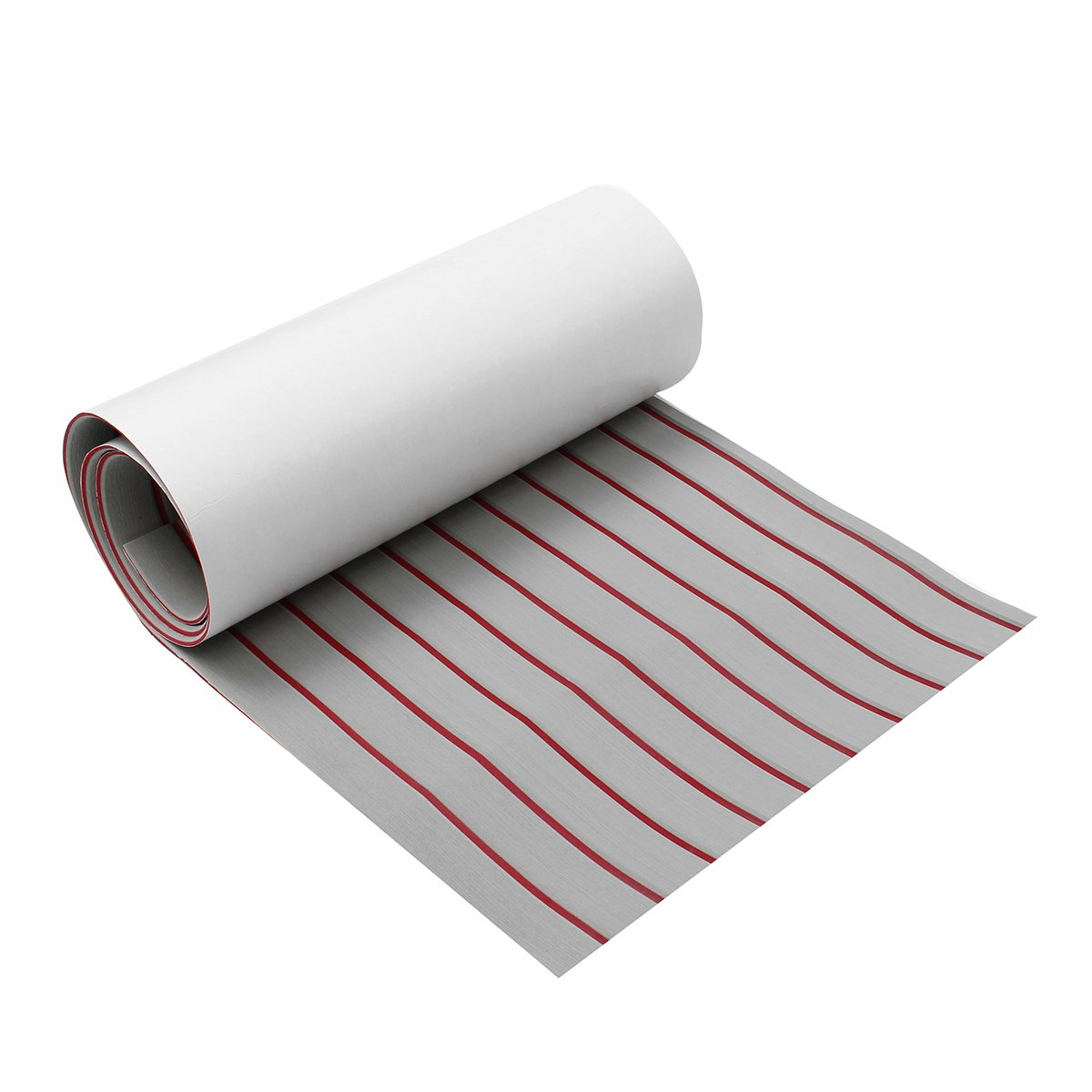 CoCocina Upgrade Self Adhesive EVA Foam Synthetic Teak Deck Boat Sheet Grey+Red Line 5mm Thickness - 1200x2400x5mm