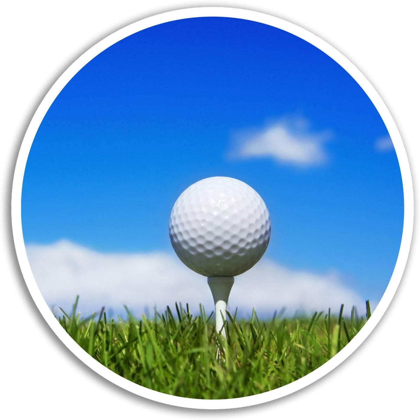 2 x 10 cm pelota de golf pegatinas de vinilo - Deportes Golf ...