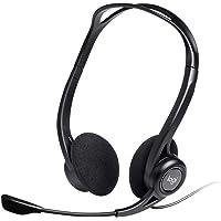 Logitech 960 Auriculares con Cable, Sonido Estéreo con Micrófono con Supresión de Ruido, USB, Peso Ligero, Controles…