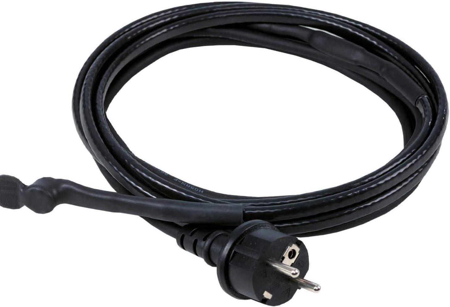 as – Schwabe Eis-Stop-Heizkabel – 2 m Frostschutz-Heizkabel inkl. Thermostat – 230 V, 50 / 60 Hz Heizleitung mit Schutzkontaktstecker – 15 W/m…