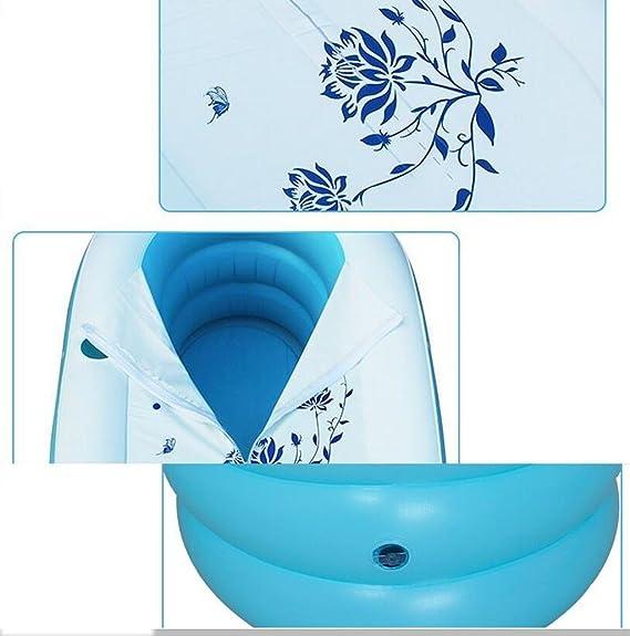 Dongyunhaishop Baignoire Gonflable Pliable Gonflable pour Adulte Bleu