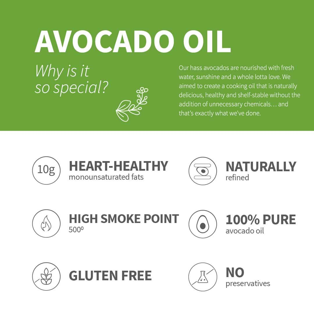Chosen Foods 100% Pure Avocado Oil 1 L (3 Pack), Non-GMO, for High-Heat Cooking, Frying, Baking, Homemade Sauces, Dressings and Marinades by Chosen Foods (Image #6)
