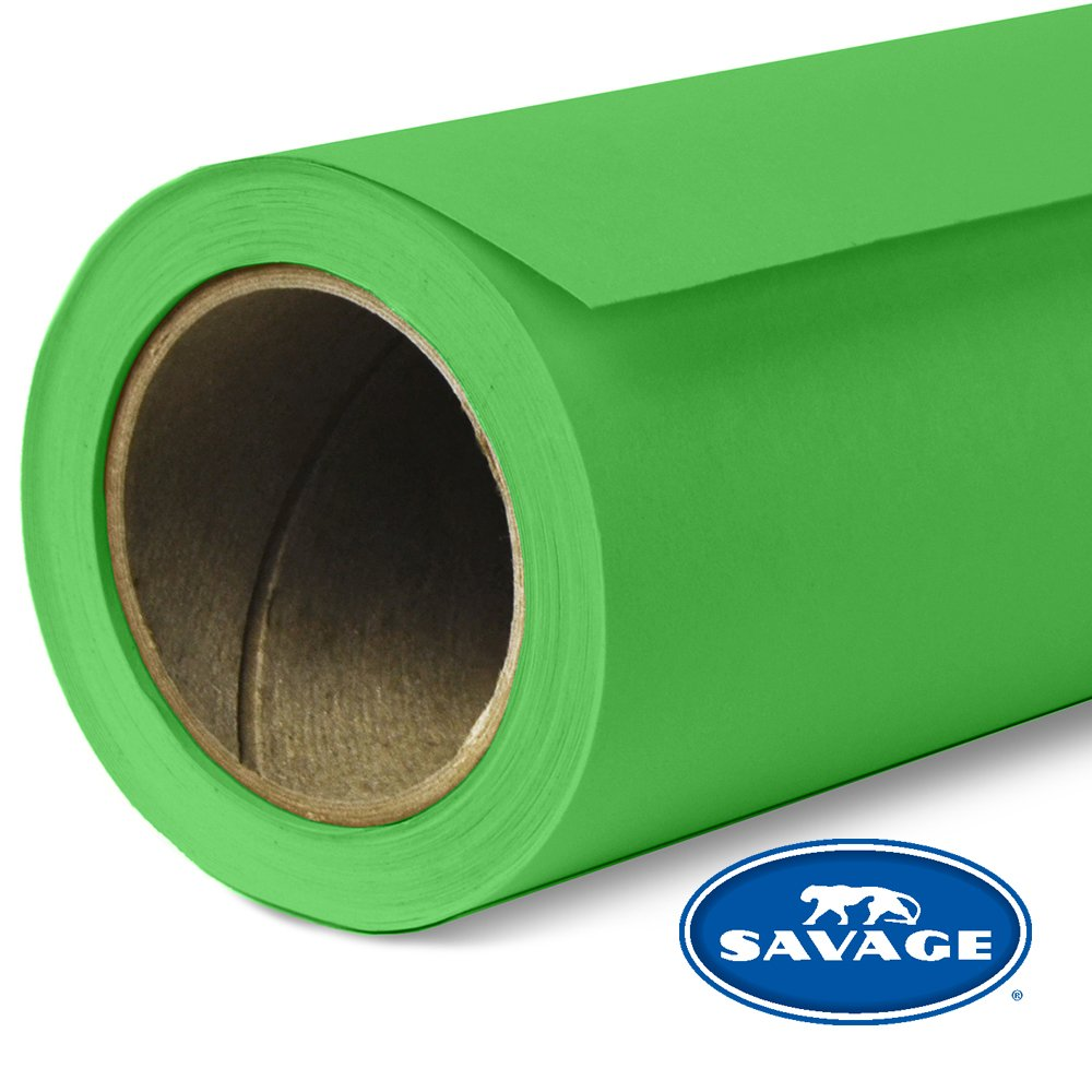 Savage Seamless Background Paper - #46 Tech Green (86 in x 18 ft) by Savage