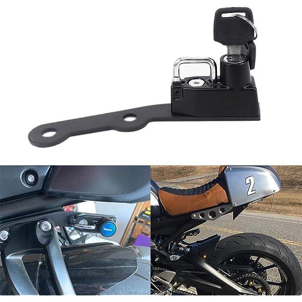 Black Motorcycle Anti-Theft Helmet Lock for Yamaha XSR900 2015-2016 MT-09 2013-2017 FZ-09 2013-2017 FJ-09 2013-2017