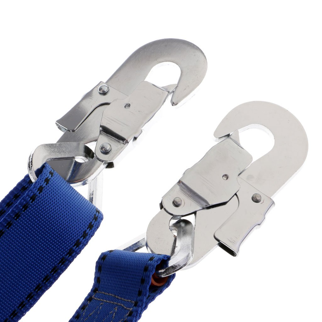 Baosity Adjustable Climbing Roofing Safety Harness Belt Lanyard for Fall Protection Rescue Service Blue by Baosity (Image #3)