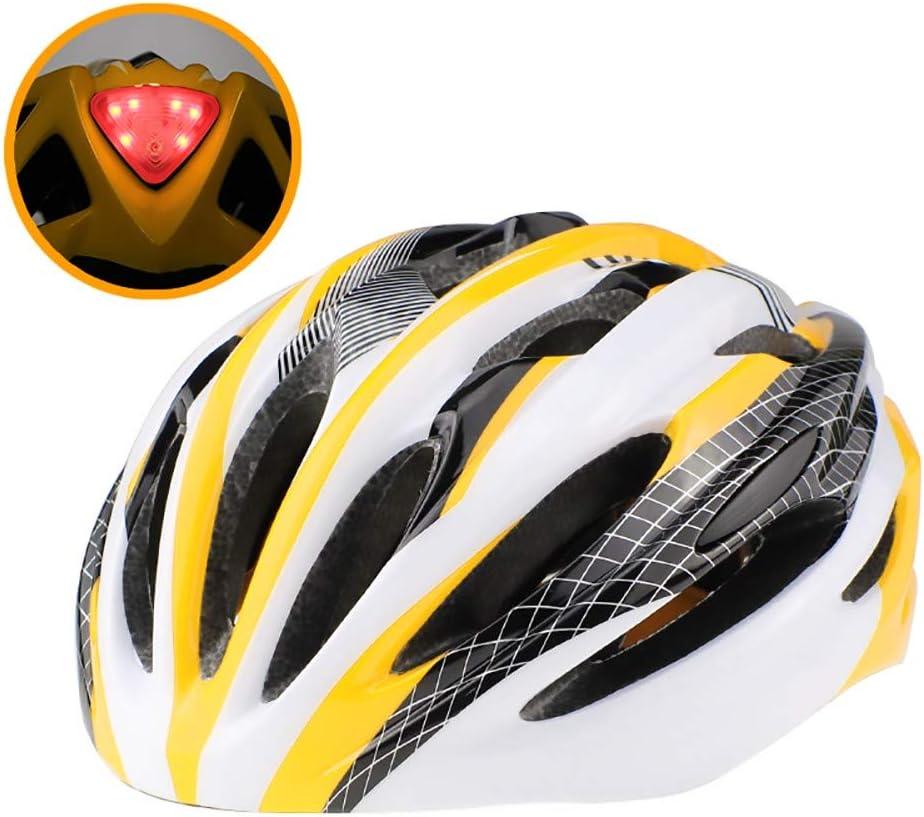 ZXASDC Casco Bicicleta, Casco Ajustable Luz Trasera Bicicleta de Carretera Protección de Seguridad Ajustable Deporte Ligera para Montar Bicicleta Bicicleta BMX Scooter Skate, 58~63cm: Amazon.es: Hogar