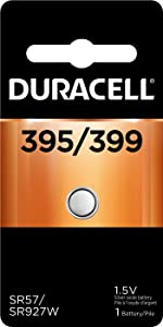Duracell – 395/399 1.5V Silver Oxide Button Battery – long-lasting battery – 1 count