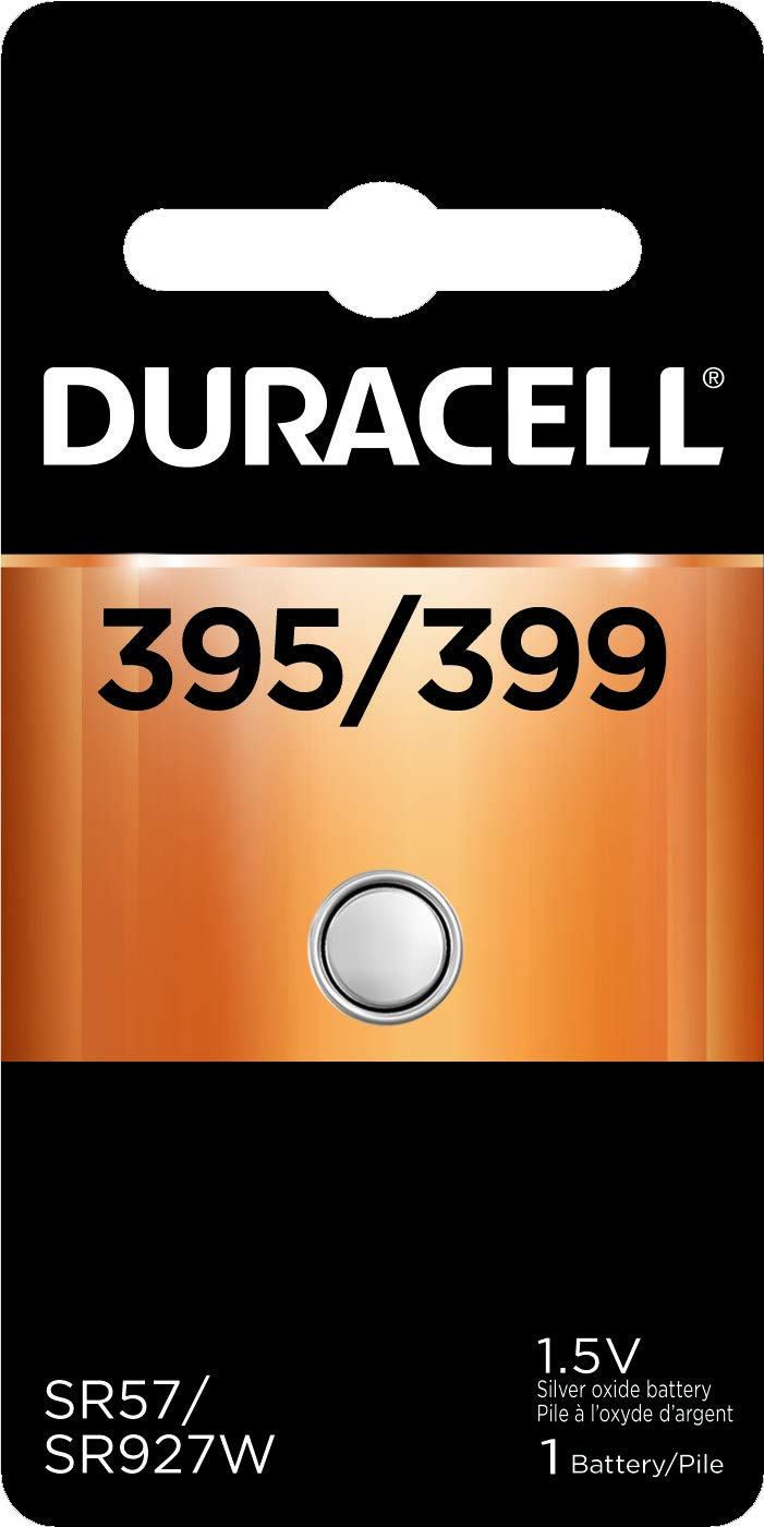 Duracell - 395/399 Silver Oxide Button Battery - long lasting battery - 1 count