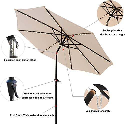 C-Hopetree 10 ft Outdoor Patio Market Umbrella