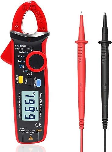 Signstek UT210E Handheld RMS AC DC Mini Digital Clamp Meter Resistance Capacitance Tester
