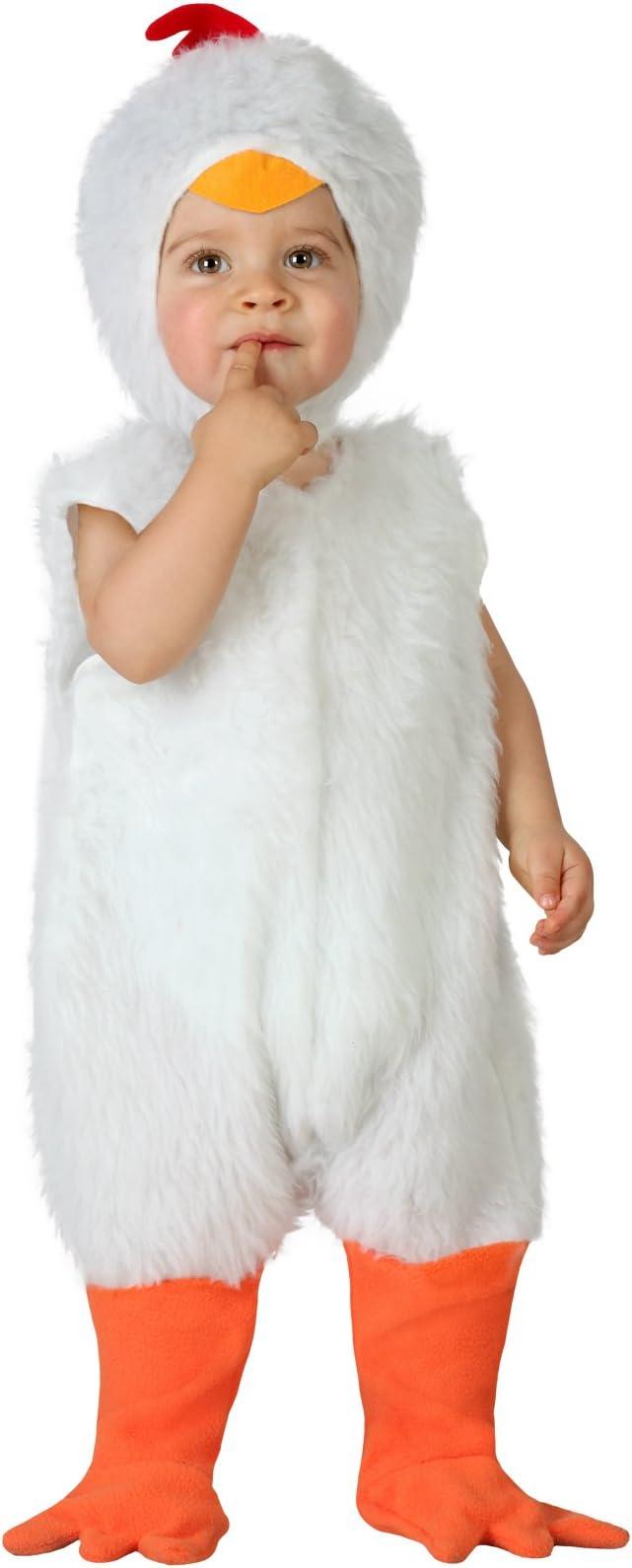 Atosa-23767 Disfraz de Gallina, Bebe T, color blanco, 0 a 6 meses ...