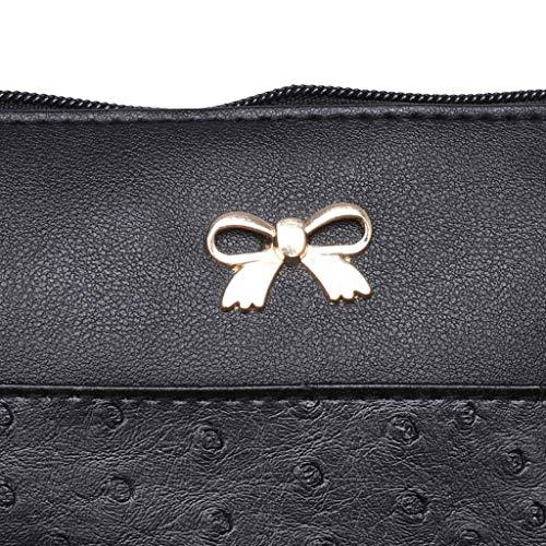 Women Bow Decoration Crossbody Bag Hit Color Shoulder Bags Messenger Bag by VEZAD (Image #2)