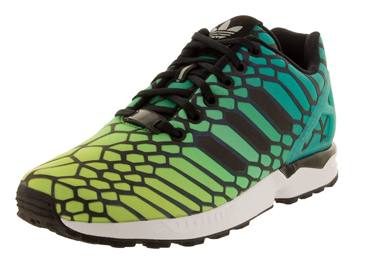 newest acfe0 f860e adidas Big Kids Unisex Originals ZX Flux Running Shoes Solar  Yellow/Black/Running White (