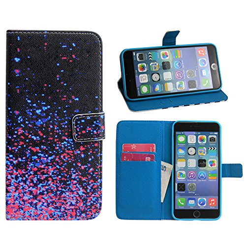 Apple iPhone 6 Plus 5.5 PU LEATHER DUNKLE DOTS design case coque housse smartphone bumper Flip bag Cover protection thematys®