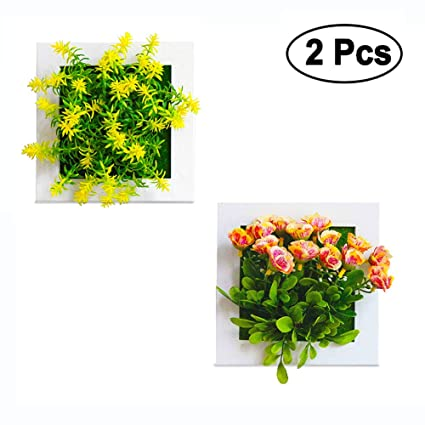 Amazoncom Neilden Artificial Plants Potted Small Flower Bushes