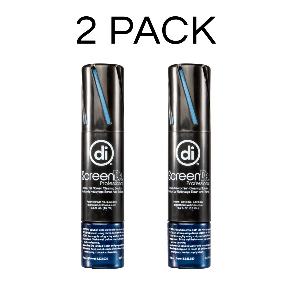 Digital Innovations 32031 ScreenDr Professional 0.5 oz Screen Cleaning Travel Kit for Laptop/Tablet / Smartphone – 2 Pack