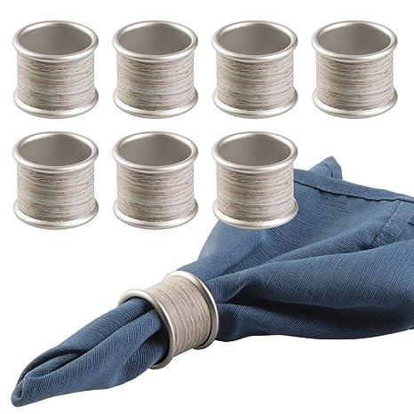 mDesign Servilleteros individuales para decoración de mesa - Porta servilletas set de 8 piezas - para
