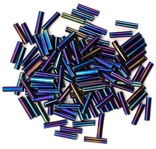 Cousin DIY Size 4 Blue Iris Czech Glass Bugle Beads ()