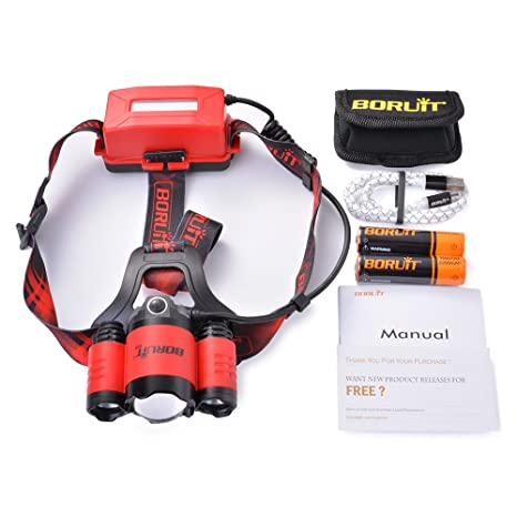 ZoomableRouge 5 Frontale Led 00 Usb Volts Lampe FrontaleSunix Rechargeable FJclK1T