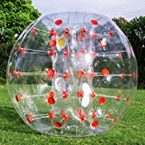 Happybuy Inflatable Bumper Ball 1.2M/4ft 1.5M/5ft Diameter Bubble Soccer Ball Blow Up Toy in 5 Min Inflatable Bumper Bubble Balls for Adults or Child (Red Dot, 5ft)