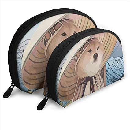 Shiba Inu Ninja Warrior Japan Shellfish Cosmetic Bag Shell ...