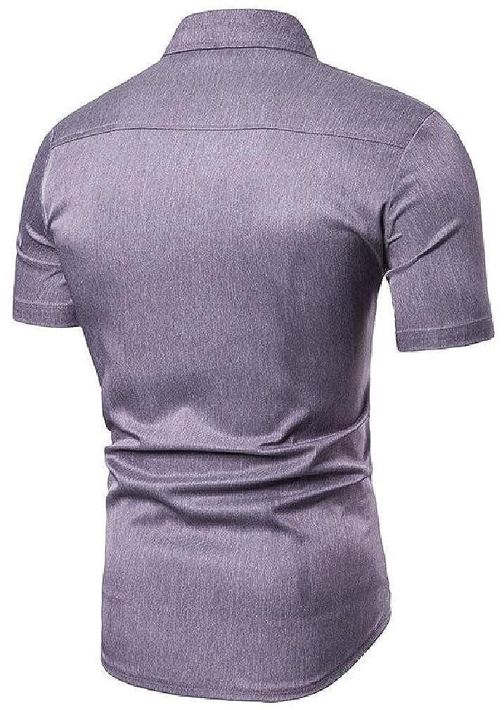 Sweatwater Men Short Sleeve Casual Regular Fit Summer Button Up Shirts