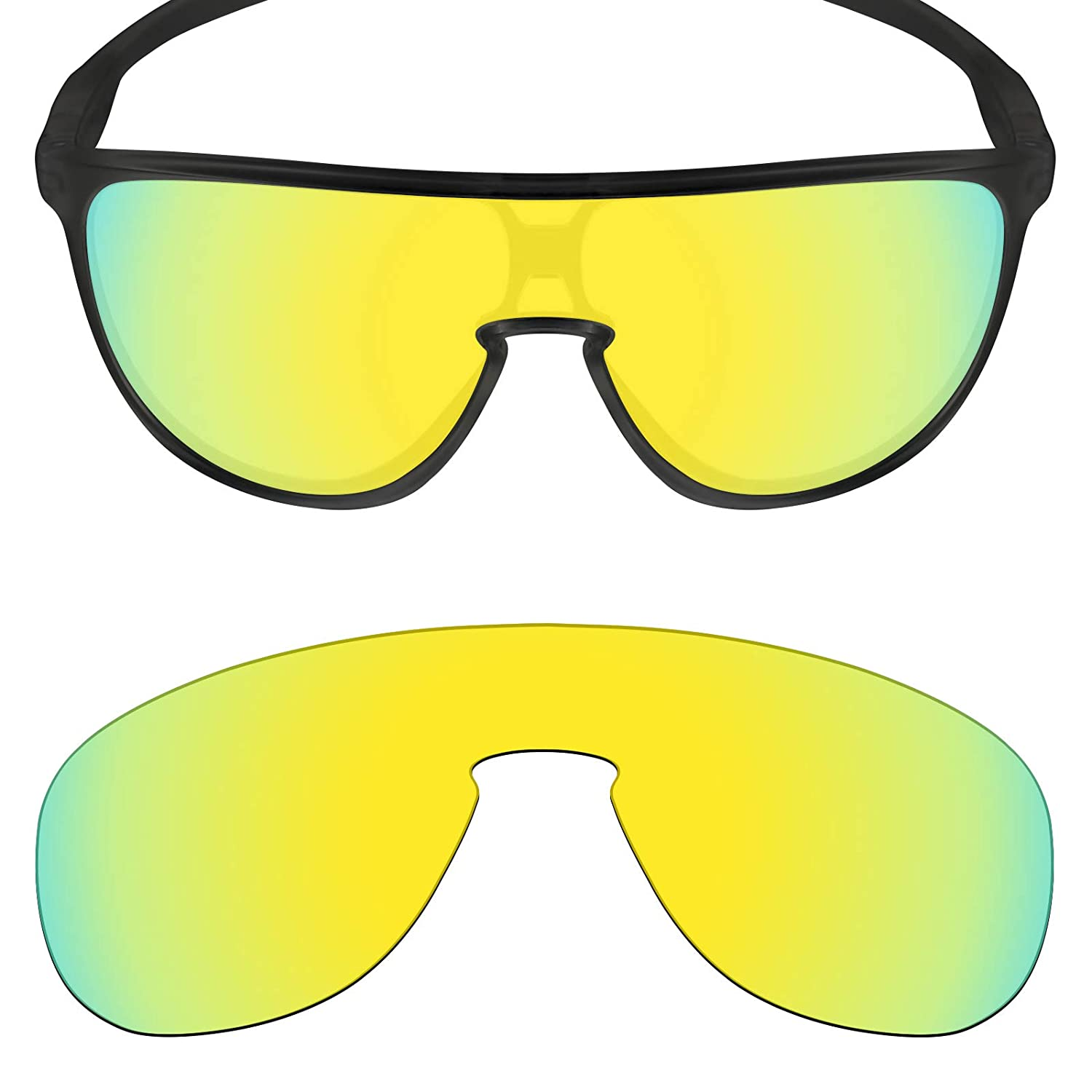 4158580914b7 Amazon.com: Mryok Polarized Replacement Lenses for Oakley Trillbe - 24K  Gold: Clothing
