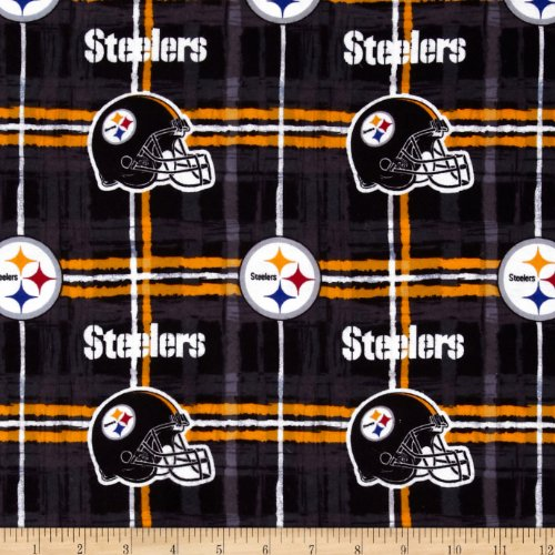 Fabric Traditions 0326375 NFL Flannel Pittsburgh Steelers Yard, Yellow/Black