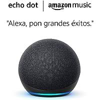 Amazon Echo Dot (4.ª generación) tela de color antracita+ Amazon Music Unlimited (6 meses GRATIS con renovación…
