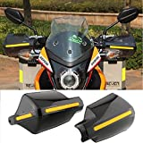 Pair Motorcycle Hand Guards 7/8'' 22mm Handlebar Handguard Handle Protector Bike Brush Wind Guard (Black)