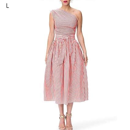 Falda Bubble, vestido mi-longue de falda asimétrica rayas sin ...