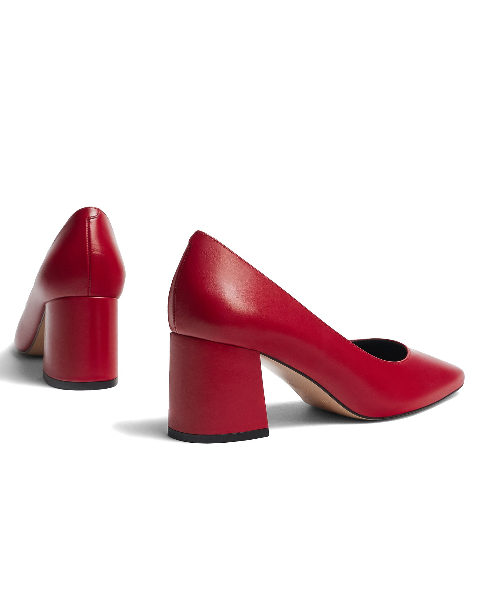 Uterque Women Red leather love high heel court shoes 4143/351 (40 EU | 9 US | 7 UK) by Uterque (Image #3)