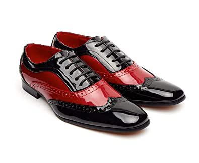 d00c2bd561f Mens 1940's Italian Vintage Spectator Two Tone, Black and Red/Blak and  White Borsali, Brogue, Gangster Shoe, Oxford Style