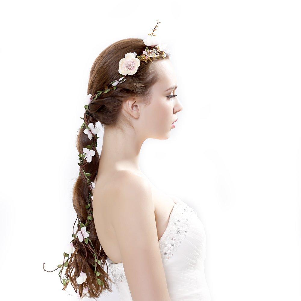 Newly arrived Rattan Flower Vine Crown Tiaras Necklace Belt Party Decoration Ever fairy EFY-4113-62882
