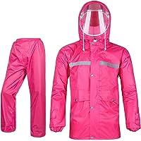 Icegrey Regenpak voor dames en heren, ademend sneeuwpak, regenjas en broek met reflecterende strepen, regenkleding voor…