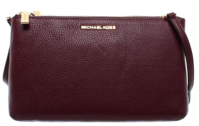 Michael Kors Damen Pochette Schulter Tasche Bordeaux Rot