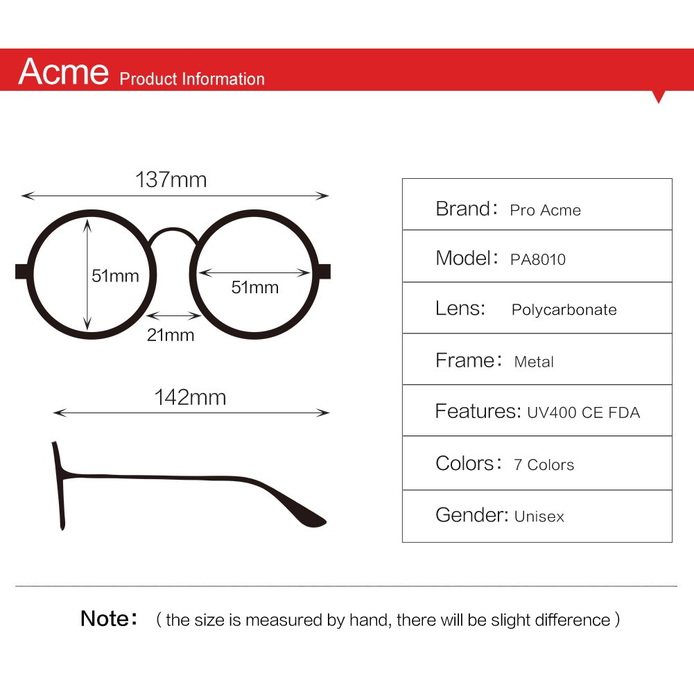 Pro Acme John Lennon Metal Spring Frame Round Steampunk Clear Lens Glasses (Gold Frame/Clear Lens) by Pro Acme (Image #5)