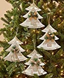 The Lakeside Collection Set of 4 Farmhouse Country Christmas Oversized Tree Ornaments