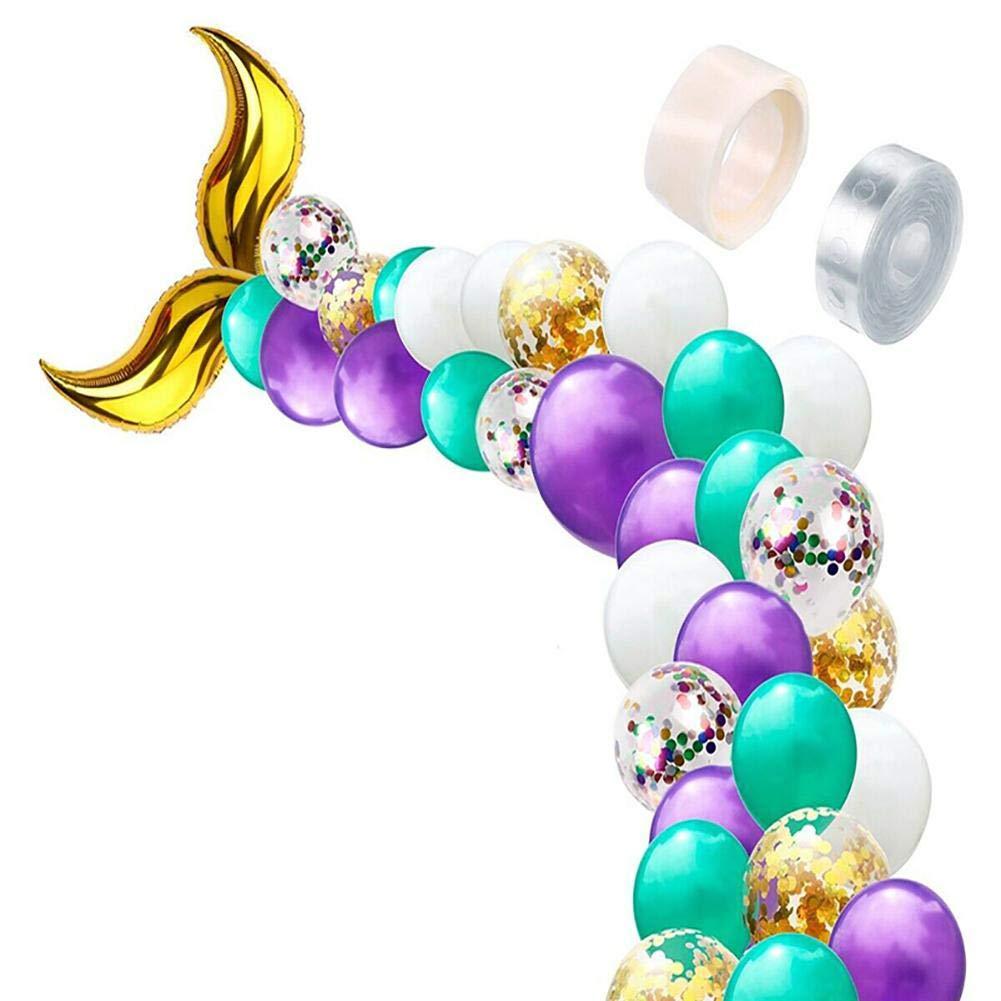 Estilo-1 Scrox 1 set Globo de L/átex en Forma de Cola de Sirena Globos Decorativos Arcos de Disfraces de Boda Decoraci/ón de Fiesta de Cumplea/ños