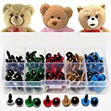 ReFaXi 80pcs Mixed Color Plastic Safety Eyes Craft for Teddy Bear Doll Plush Animal 10mm