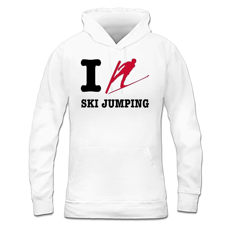 I Love Ski Jumping Frauen Kapuzenpullover by Shirtcity
