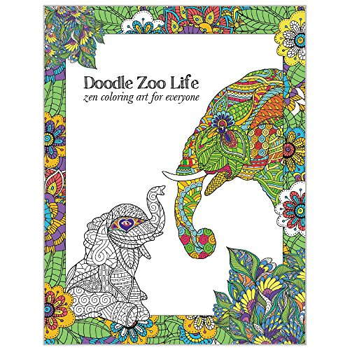 Tree-Free Greetings Adult Coloring Book: Zoo Animals - Stress Relief, Mindfulness and Relaxation for Grown Ups and Kids (DB13806) -