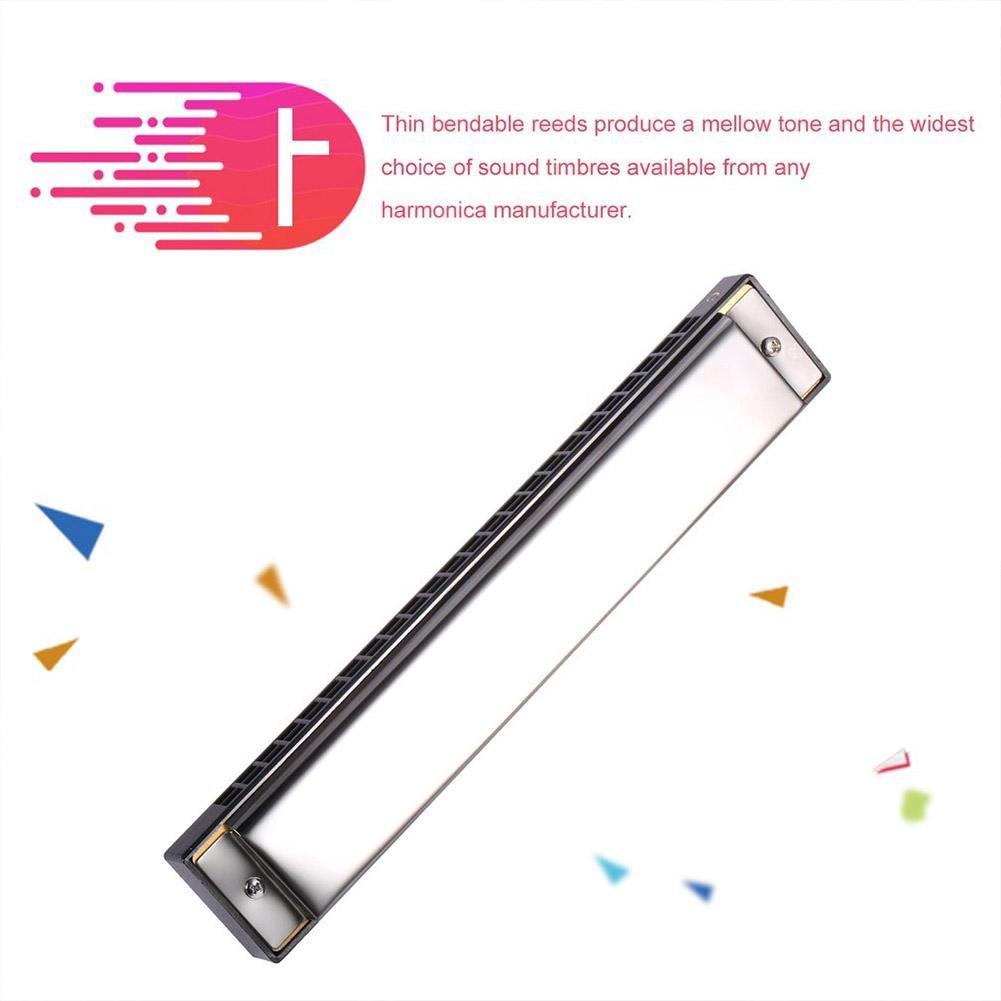 Prom-near 24 fori Armonica a bocca Tremolo Tonart C Professionale Potenza 180 X 30 X 21, 8 mm