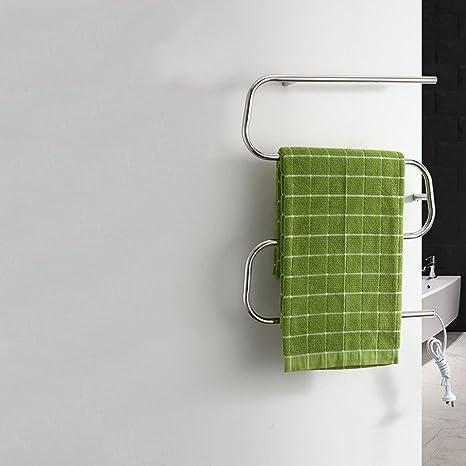 TT Toallero eléctrico toallero baño tendedero de Acero Inoxidable para baño toallero toallero de Pared toallero