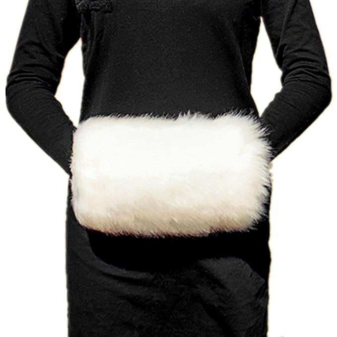 Victorian Clothing, Costumes & 1800s Fashion Wed2BB Faux Fur Hand Muffs Women Warm Faux Fur Muffs $14.95 AT vintagedancer.com