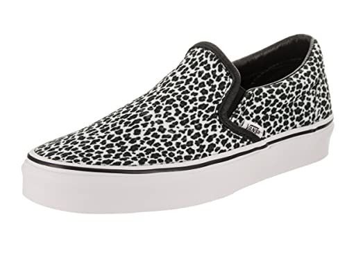 2ee036bdd7cc85 Vans Unisex Classic Slip-On (Mini Leopard) Blk True White Skate Shoe ...